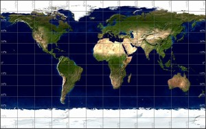 Earth in the Rectangular projection
